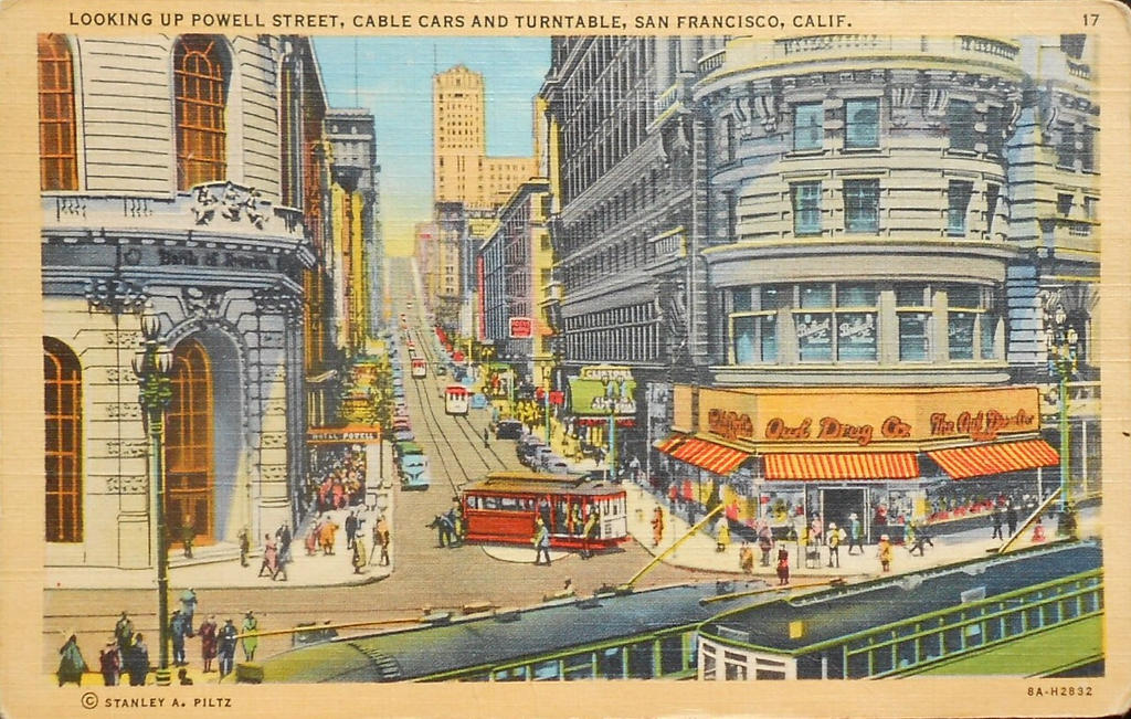 Vintage San Francisco Powell St Owl Drug Co By