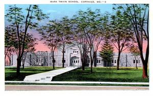 Vintage Missouri - Mark Twain School, Carthage MO by Yesterdays-Paper