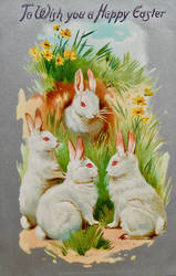 Easter Bunnies' Club Meeting by Yesterdays-Paper