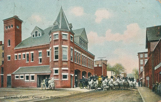 Vintage New England - Norwich Central Fire House