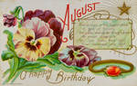 Birthday Greeting - August