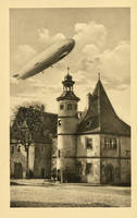 Graf Zeppelin over Rothenburg ob der Tauber by Yesterdays-Paper