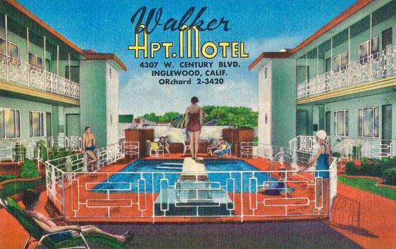Vintage Motels - Walker Apts., Inglewood CA