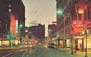 Vintage Texas - El Paso at Dusk by Yesterdays-Paper