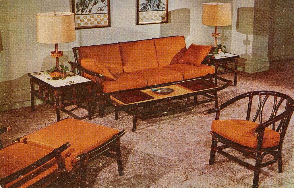Old Vintage Furniture Cramped Blue Room Faded Old Farm