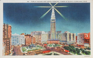 Night Scene Postcards - Cleveland Ohio