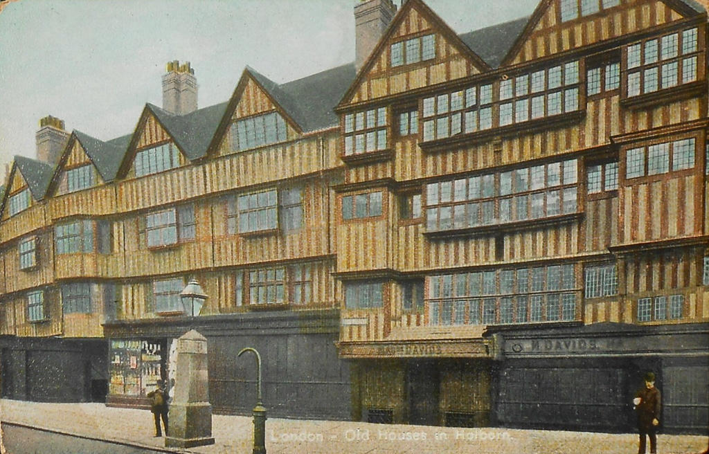 Vintage UK - Old Houses in Holborn, London by Yesterdays-Paper ...