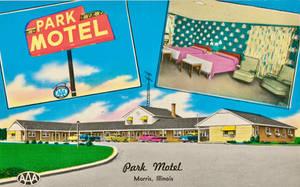 Vintage Motels - Park Motel, Morris IL