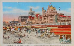 Vintage New Jersey - Marlborough-Blenheim Lido by Yesterdays-Paper
