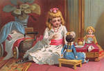 Victorian Advertising - Playing With Dolls