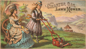 Victorian Advertising - Cutting the Lawn