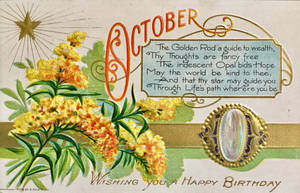October Opal and Goldenrod by Yesterdays-Paper