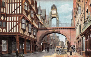 Vintage UK - Eastgate Street, Chester by Yesterdays-Paper