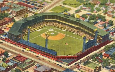 Vintage Missouri - Sportsman's Park, St. Louis by Yesterdays-Paper