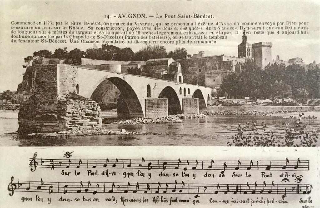 Vintage Song Cards Sur Le Pont D Avignon By Yesterdays