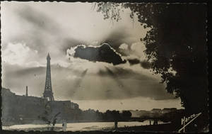 Vintage Europe - Eiffel Tower at Sunset by Yesterdays-Paper