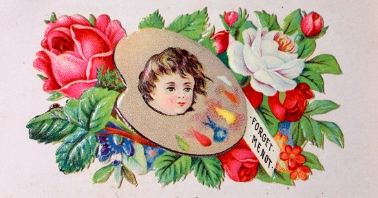 Victorian Calling Card - Palette by Yesterdays-Paper