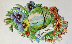 Victorian Calling Card - Friendship by Yesterdays-Paper
