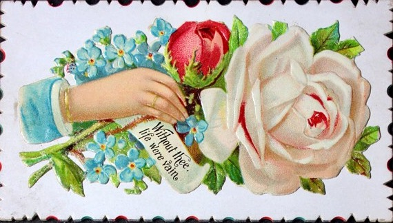 Victorian Calling Card - Without Thee by Yesterdays-Paper
