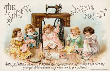 Victorian Advertising - Sewing Circle by Yesterdays-Paper
