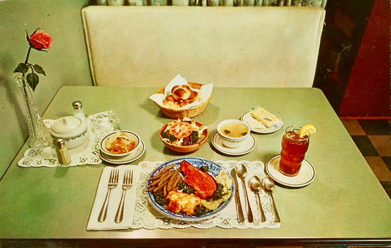 Vintage Food - Full Course Dinner for 75 Cents by Yesterdays-Paper