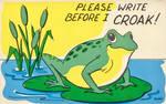 Please Write Before I CROAK!