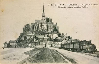 Vintage Europe - Train from Mt. St. Michel by Yesterdays-Paper