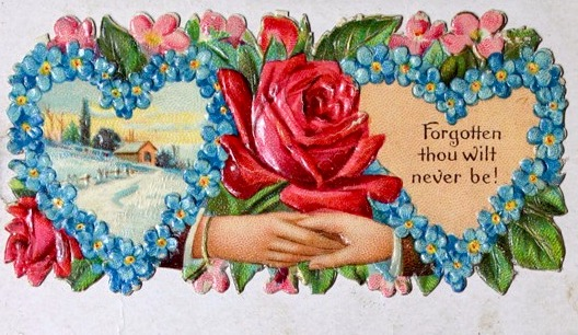 Victorian Calling Card - Forgotten Never by Yesterdays-Paper