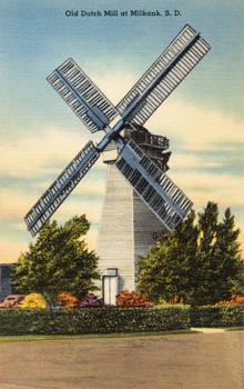 Vintage South Dakota - Old Dutch Windmill