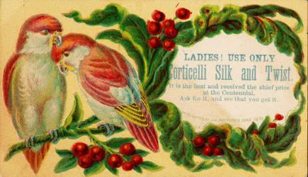 Victorian Advertising - Love Birds