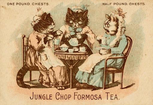 Victorian Advertising - Kitt-tea Party