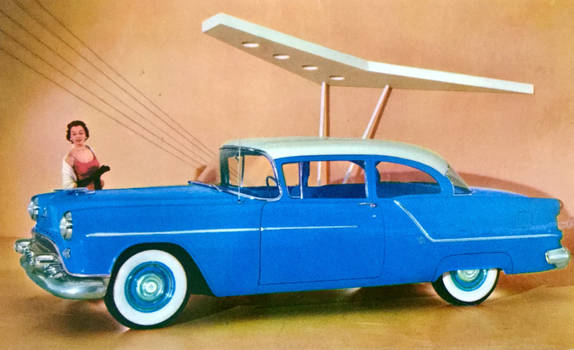 1954 Oldsmobile 88 by Yesterdays-Paper