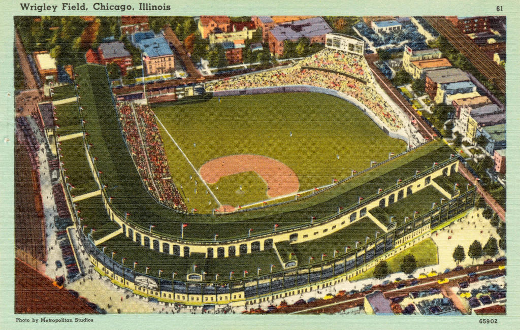 Vintage Chicago - Wrigley Field by Yesterdays-Paper