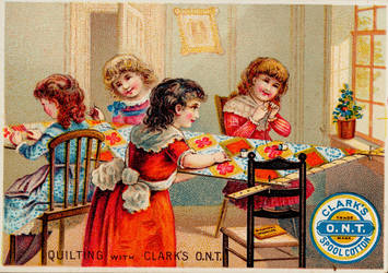 Victorian Advertising - Quilting Party