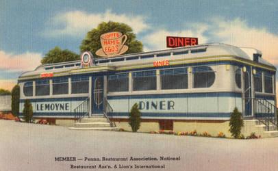 Vintage Advertising - Train Car Diner