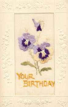 Broderie d'Art - Pansies by Yesterdays-Paper