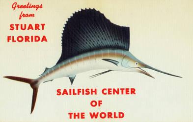 Vintage Florida - Sailfish by Yesterdays-Paper