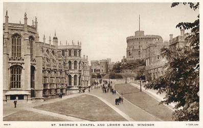 Vintage UK - St. George's Chapel, Windsor by Yesterdays-Paper