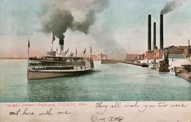Vintage Ohio - Steamer Greyhound, Toledo