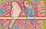 Paper Portals - Paire de Perroquets II by Yesterdays-Paper