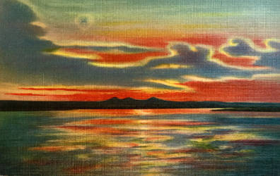 Vintage New Mexico - Rio Grande Sunset