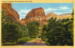 Vintage Utah - Angels Landing, Zion Nat. Park