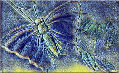 Paper Portals - Papillon En Bleu by Yesterdays-Paper