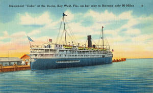Vintage Florida - Steamboat to Cuba by Yesterdays-Paper