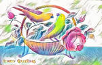 Paper Portals - Panier d'Oiseaux by Yesterdays-Paper