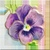 Vintage Pansy Icon - Right