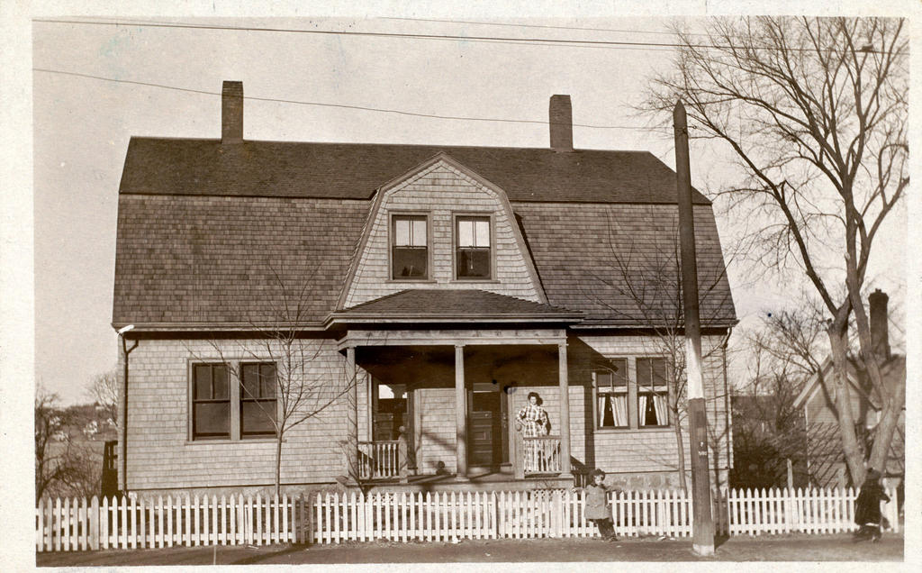 Vintage New England Dutch Colonial Revival Home By Yesterdays