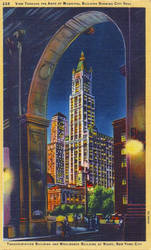 Night Scene Postcards - Woolworth Building, NYC by Yesterdays-Paper