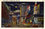 Night Scene Postcards - Times Square, NYC