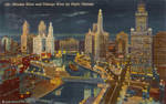 Night Scene Postcards - Chicago Riverfront